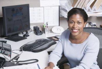 Secretaries use their skills and knowledge in office administration to improve office efficiency and customer satisfaction.