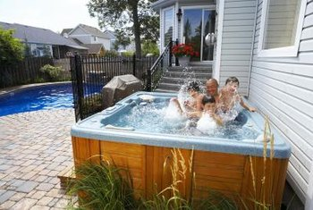 Insulate your hot tub for energy savings.