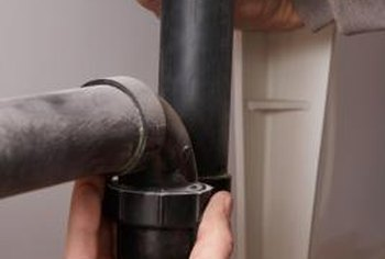 Drain pipes often leak if they aren't straight.