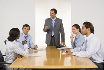 The conclusions of analytical business reports are often presented in meetings with the CEO.