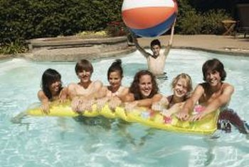 Water balloons add fun to a pool party.