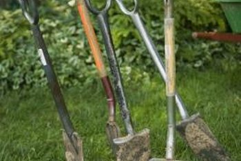 A variety of well-made digging tools eases the job of cultivation.