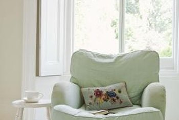 An armchair can make a sitting area more comfy.
