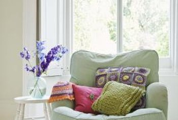 Decorative pillows are simple to make.