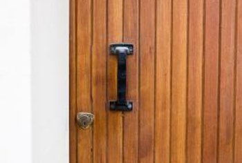 Avoid streaks and brush marks by spraying varnish on your door.
