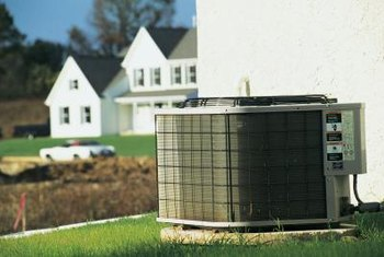 Planting ground cover around the air conditioning unit improves the appearance of the area.