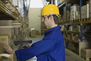 A warehouse inventory auditor tracks the supply of goods into and out of the facility.