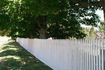 An airless sprayer can paint even a large fence in a single afternoon.