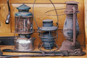 You can give a new lantern an old look by aging the metal.