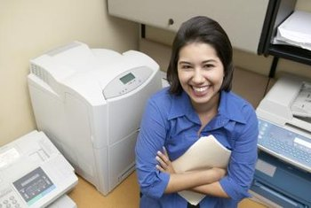 Laser printers use multiple techniques to track toner levels.