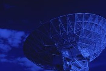 Satellites provide Internet service in rural locations.