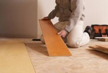Sealing laminate edges prevents water from infiltrating the panels' underside.