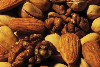 Use walnuts and almonds to help you burn fat.