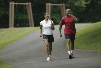 A brisk walk raises your heart rate.