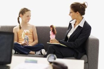 Psychologists sometimes help children through role play.