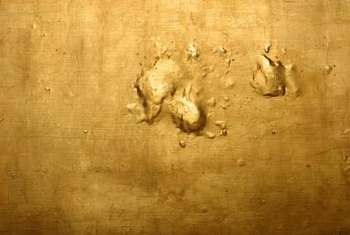 Gold leaf is sumptuous and textural.