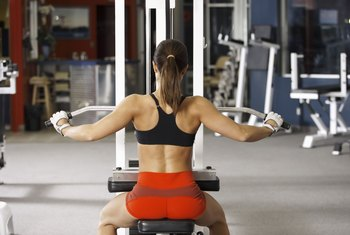 Lat pulldowns strengthen your back, shoulders and arms.