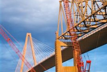 Civil engineers plan and oversee the construction of bridges and other major projects.
