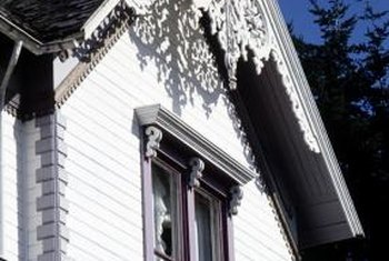 This home has an intricately designed gable ornament.