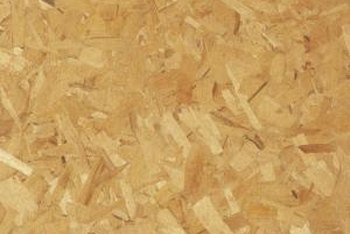 Fiberboard is made from random chunks of wood.