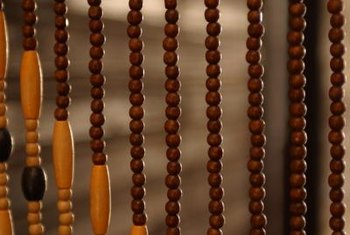 Simple wooden beads bring a polished look to your home's decor.