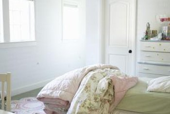 Make a ruffled bed skirt that matches your bedding set.