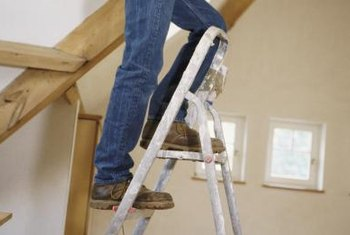A spring-loaded attic staircase makes accessing the attic safer and easier than using a stepladder.