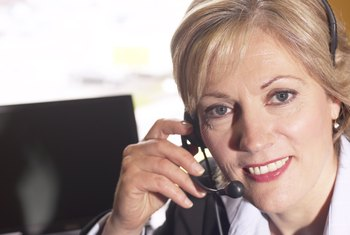 Receptionists answer phones and take messages.