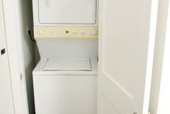 Stacked washer and dryer combinations save valuable space within the home.