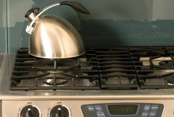 If your gas model GE Profile oven won't heat, you may need to open the gas shutoff valve.