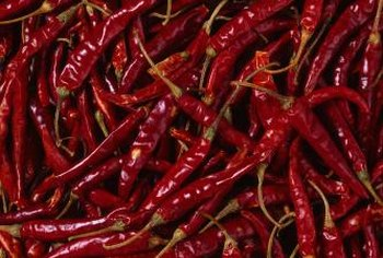 Red chili peppers are ground in used in chili seasoning.