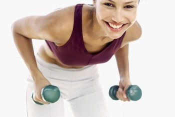 Dumbbell exercises can help slim down and tone your back.