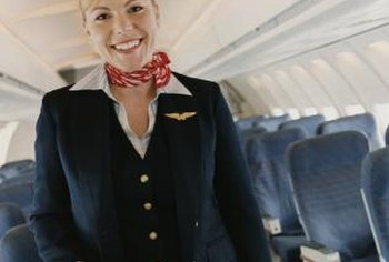 A flight attendant must smile, even when passengers aren't so friendly.