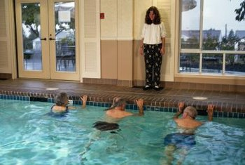 Water aerobics is an easy aerobic workout involving simple movements.