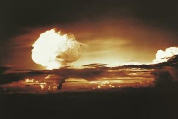 Radioactive black rain can follow nuclear bomb detonation.
