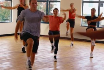 A 160-pound person burns more than 500 calories in a one-hour aerobics class.