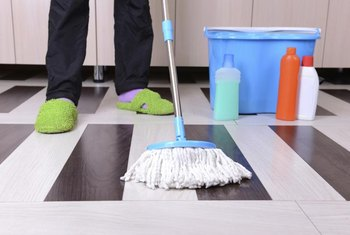 Use a soft or sponge mop when cleaning vinyl floors.
