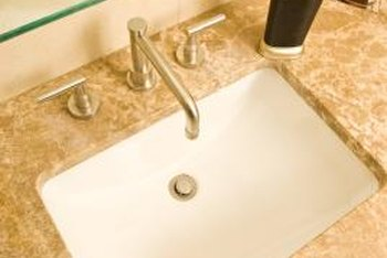 Granite tops can be cut to accommodate sinks of any shape and size.