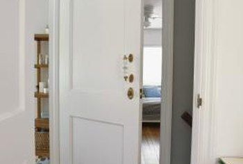 Old doors can be repurposed for other uses.