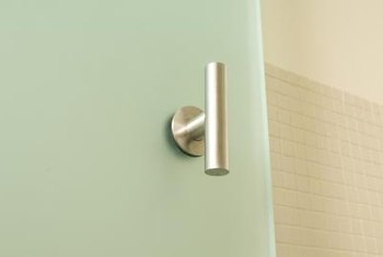 Use modern metal pulls or handles on glass doors.