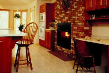 Painting bricks can transform a dated look into a stunning focal point.