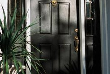 A tightly-sealed front door can prevent water from leaking inside.