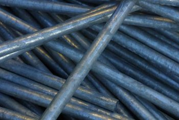 Aged galvanized pipes can cause water to have a high iron content.