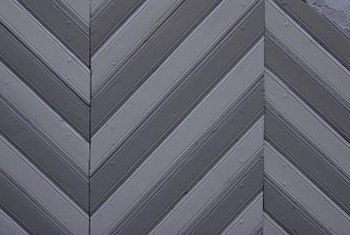 The zigzag pattern makes a dramatic statement when painted on a living room or den wall.