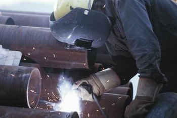 Pipe welders work in a variety of industries, from agricultural construction to shipbuilding.