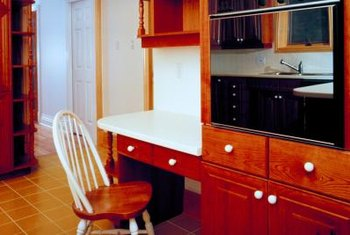 Extending counter space allows you to have an office or craft area without sacrificing counter space.