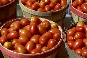 Tomato paste plants produce fruit that is suited for canning and preserving.