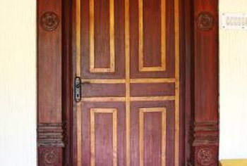 Create rectangular patterns on the face of a door.