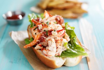 Nutritional Info for a Lobster Roll Sandwich