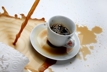 How to Remove Coffee Stains From a White Carpet